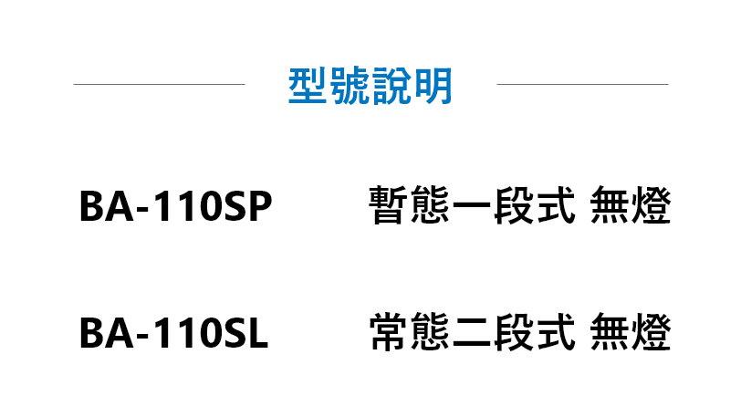 BA-110緊急壓扣型號說明